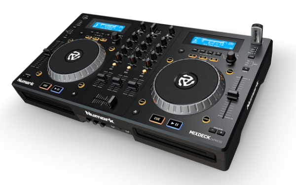 <p>New look - updated for 2016 - Mixdeck Express Black is a full-featured DJ controller that comes complete with Serato DJ Intro software, two CD decks, dual USB flash drives, and a fully-integrated three-channel mixer. Connects to your sound system as both standalone and as controller via a laptop.</p><p>The two high performance decks on Mixdeck Express feature large touch-sensitive platters for mixing and scratching. There's a seamless looping feature to customize your mix along with a reverse and brake feature. The built-in mixer has 3-channel EQ/rotary kills, replaceable crossfader and external inputs to help you mix in external playback devices or an additional microphone.</p>