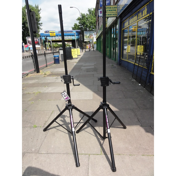 <p>Heavy-duty speaker stands with 35mm pole.</p><p>Crank handles allow easy height extension. </p><p></p>