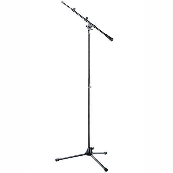 Microphone boom stand with tripod base and metal joints<br /><br />
