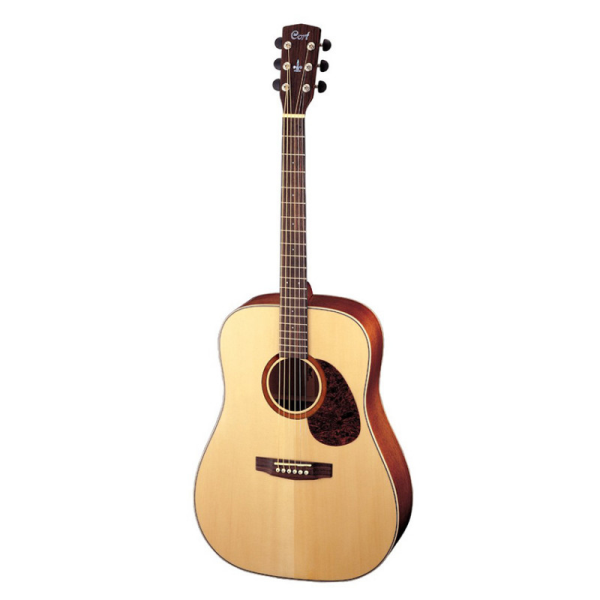 Stunning acoustic guitar with solid spruce top, Pau Ferro back & sides, gloss finish, bone nut & saddle, and more.