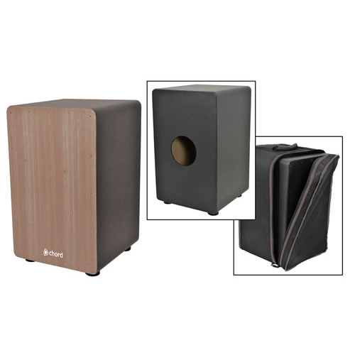 Excellent cajon with a PVC-covered maple body, Oak wood frontplate, padded carry bag and all for just £129!