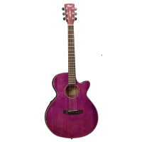 <p>Limited edition SFX thin-bodied electro-acoustic guitar, in a rather delicious transparent purple finish.</p><p>Features a built-in tuner, solid top, comfortable thin body, cutaway and more.</p>