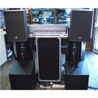 Powerful PA system with sturdy cabinets designed for the rigours of the road. Fantastic sound and great build quality. Excellent condition. Costs about £2100 new!