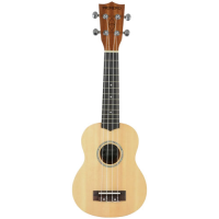 Very affordable solid-top soprano ukulele.