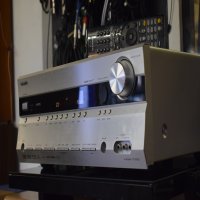 Powerful, modern AV amplifier with 7.1 surround sound capability. Also sounds lovely as a conventional stereo amp. Excellent condition, with remote control.
