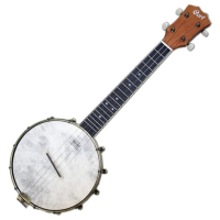 Quality banjolele with Remo head and maple rim.