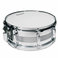 "Decent 14"" snare drum with metal shell."