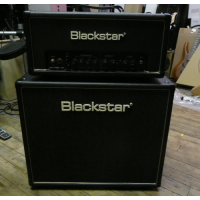<p>Blackstar HT20 Studio 20 head, and HTV 112 Celestion loaded cabinet, in mint condition!</p><p>Includes amp cover and footswitch.</p>