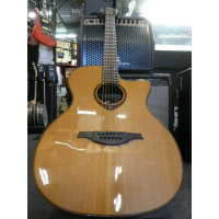 <p>Awesome solid-top electro-acoustic with a very shallow body depth, but a nice deep tone!  This guitar also features lots of nice little touches from the exquisite woods and binding, to the unique soundhole rosette and carved headstock.</p>