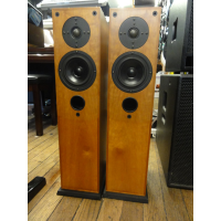 <p>Beautiful floor-standing hi-fi speakers.<br />Great sound - well-defined, with a controlled and musical bottom end.<br />Hand-crafted and designed to a high specification in Gloucestershire, England.&nbsp;<br />Smooth, non-fatiguing tops from the soft dome tweeters.<br />Impressive stereo field, spacious midrange.<br />High quality components throughout.<br />Front-ported, two-way design.<br />Mounted on plinths for superior isolation.<br />Very good condition, with front grilles.</p><p>Antique Cherry finish.<br /><br /></p>