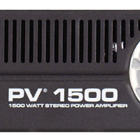 All the features and proven reliability. The PV® 1500 features DDT™ distortion detection technique virtually eliminating distortion. It also features Peavey's patented Turbo-V™ cooling design, which cools the power transistors more evenly than traditional heat-sink designs.<br />