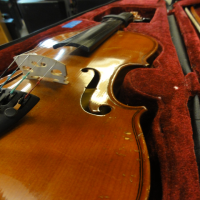 Intermediate violin. <br />3/4 size.<br />Lovely tone, great build quality.<br />Solid spruce top and solid maple back and sides.<br />