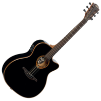 <p>Gorgeous solid top electro by Lag.&nbsp; Black high gloss finish.</p>