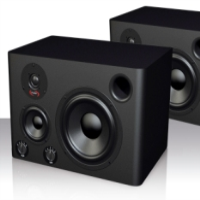 Powerful active 3-way reference monitors at a breakthrough price. 150 watts RMS each.